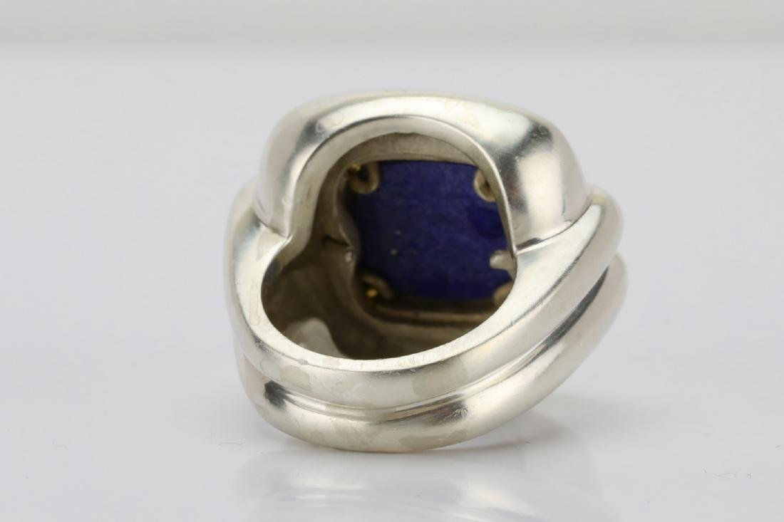 Tiffany & Co. Sterling Silver & 18K Ring W/Lapis - 4