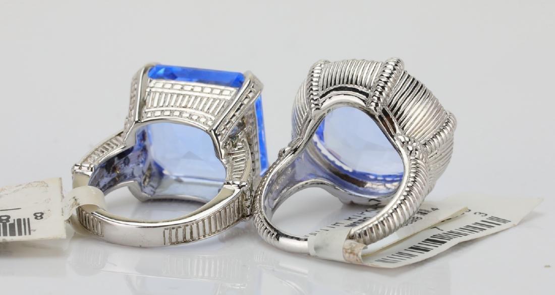 Judith Ripka Sterling Silver & Blue Gemstone Rings - 5