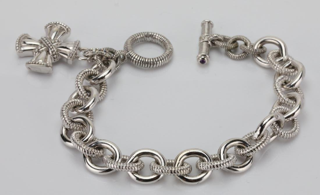 Judith Ripka Sterling Silver Textured Bracelet