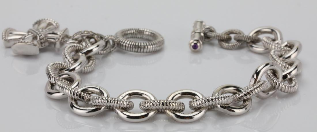 Judith Ripka Sterling Silver Textured Bracelet - 2