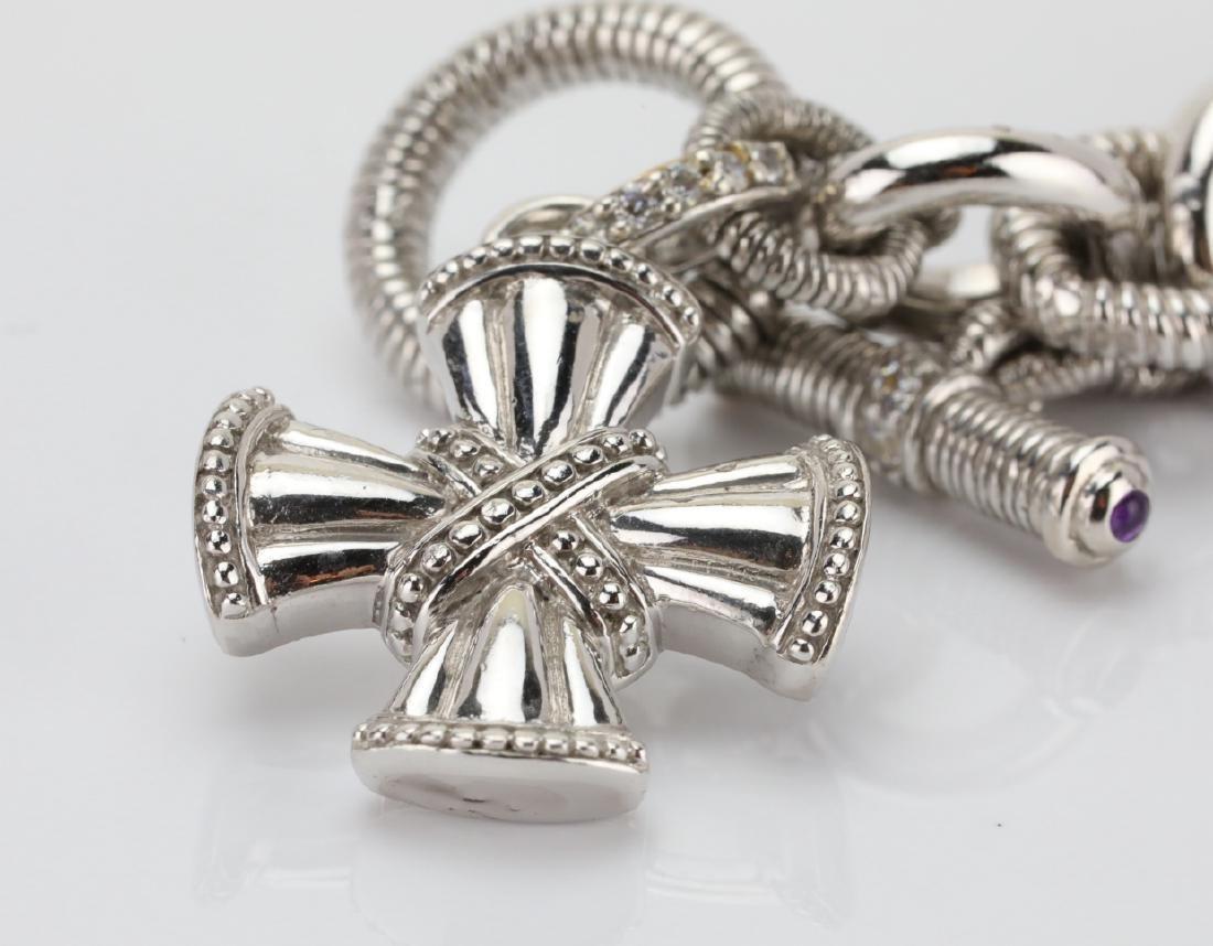 Judith Ripka Sterling Silver Textured Bracelet - 3