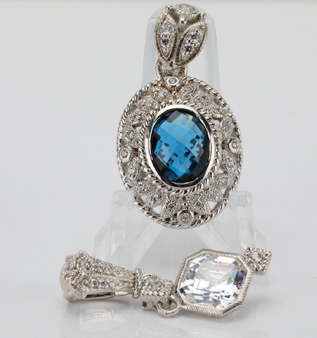 Judith Ripka Sterling Silver & Gemstone Pendants