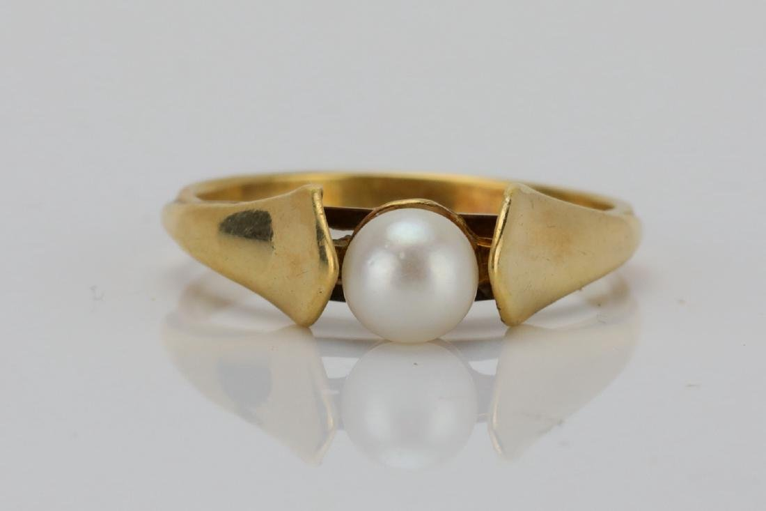 5.5mm Pearl & Solid 14K Yellow Gold Ring