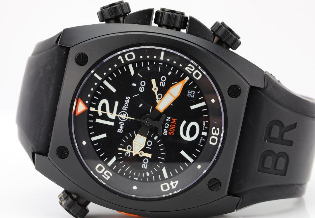 Bell & Ross Marine Chronograph Stainless Steel Watch - 5