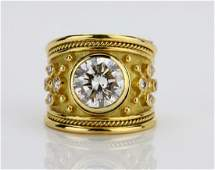Elizabeth Gage 401ct GIA SI2I Diamond 18K Ring