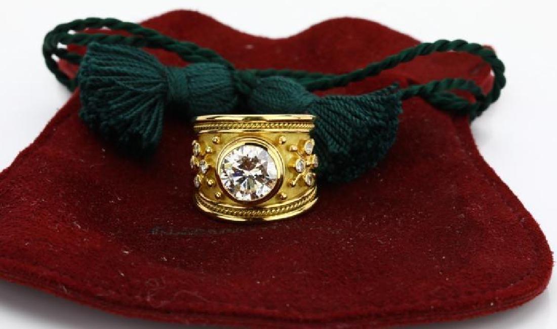 Elizabeth Gage 4.01ct GIA SI2/I Diamond 18K Ring - 2