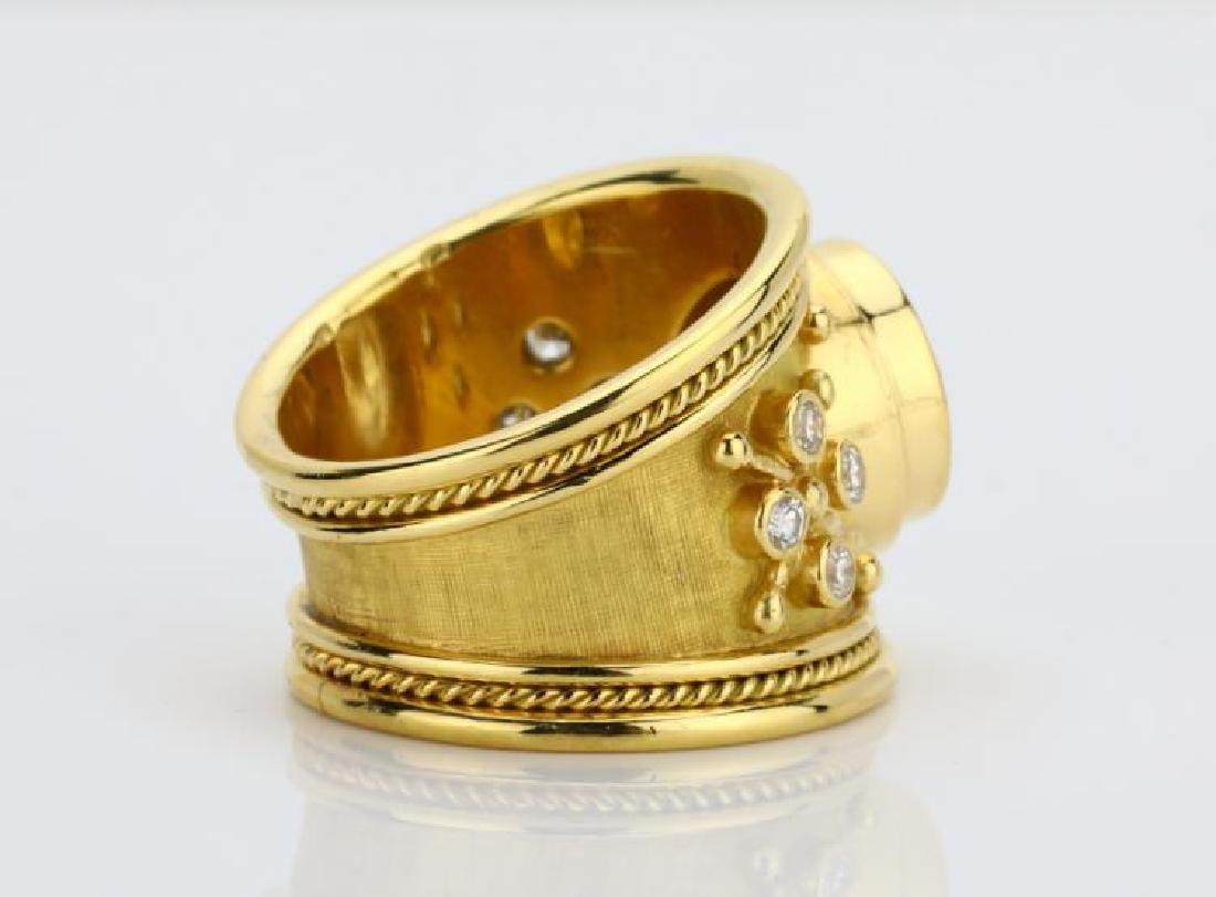 Elizabeth Gage 4.01ct GIA SI2/I Diamond 18K Ring - 4