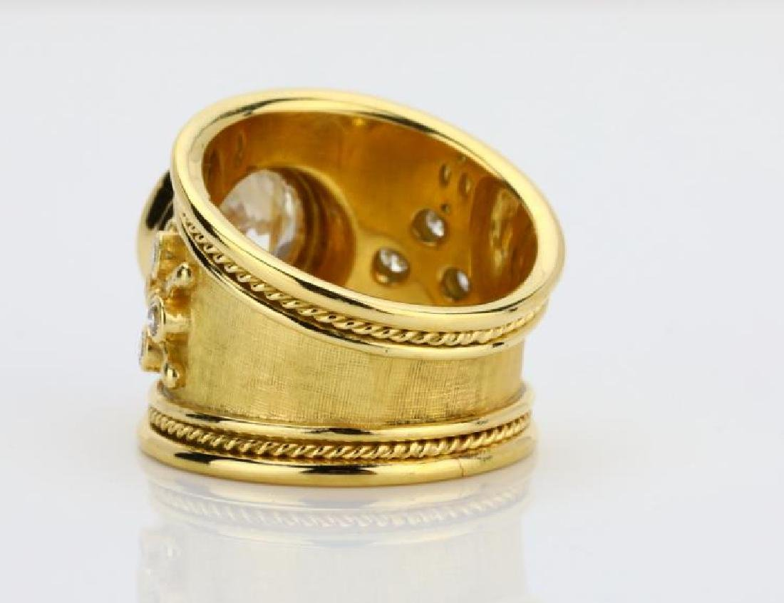 Elizabeth Gage 4.01ct GIA SI2/I Diamond 18K Ring - 5