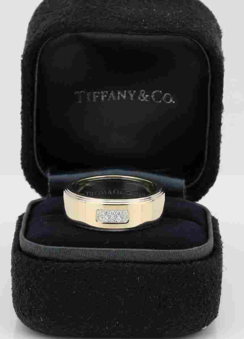 Tiffany & Co. 2004 18K Century Band W/Diamonds