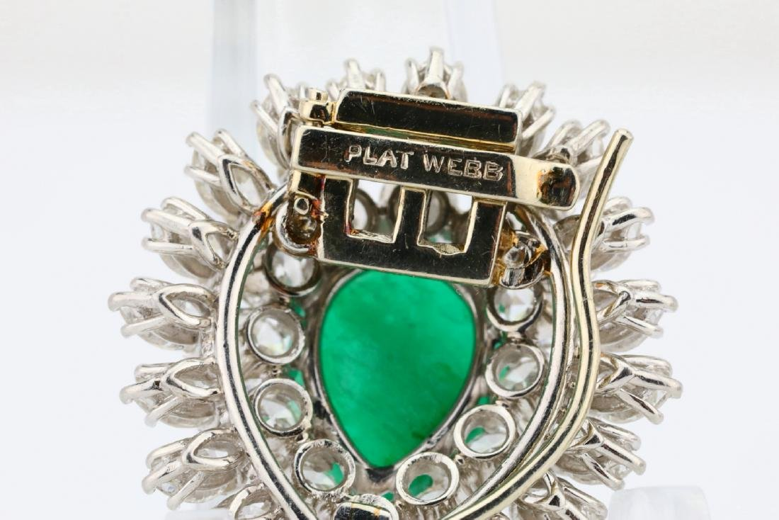 David Webb 36ctw Diamond & Emerald Platinum Set - 12