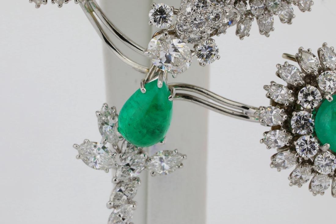 David Webb 36ctw Diamond & Emerald Platinum Set - 6