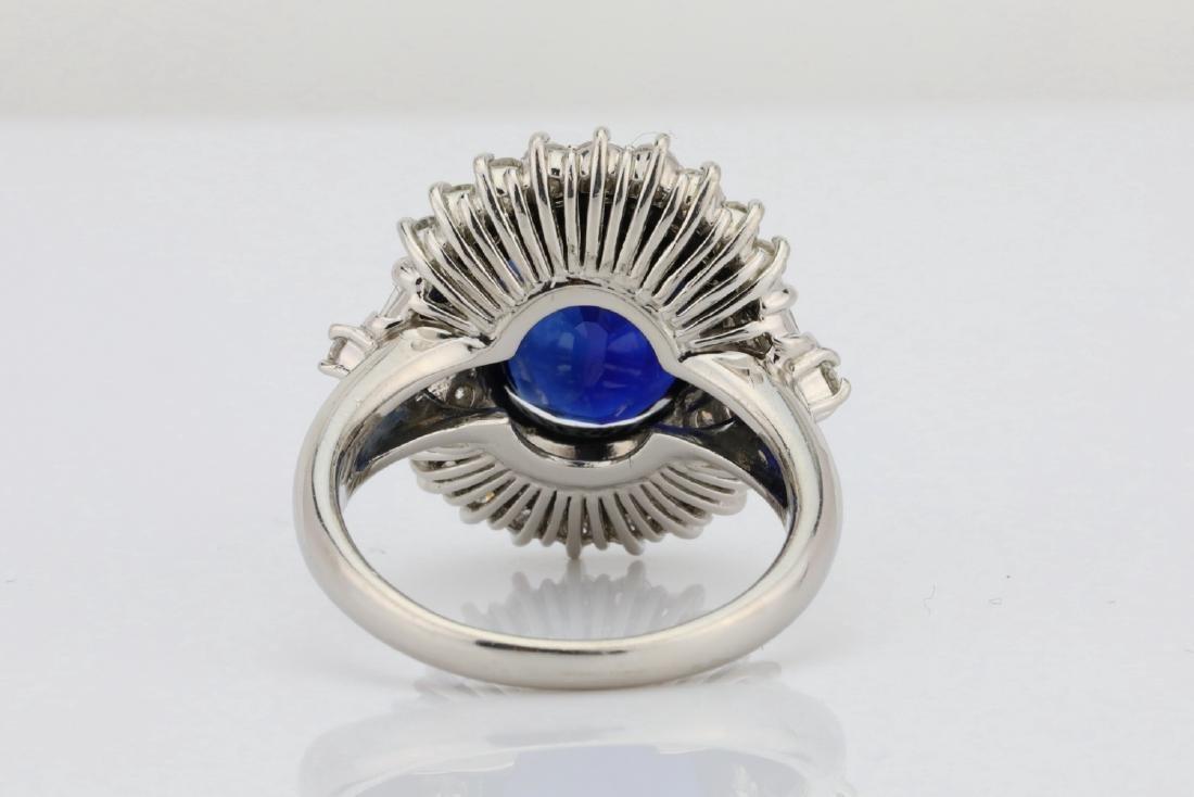 8.41ct GIA Blue Sapphire, Diamond & Platinum Ring - 7