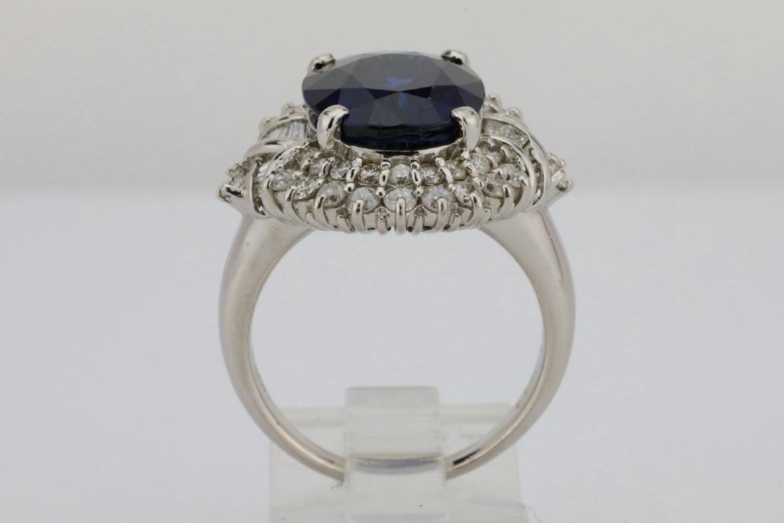 8.41ct GIA Blue Sapphire, Diamond & Platinum Ring - 8