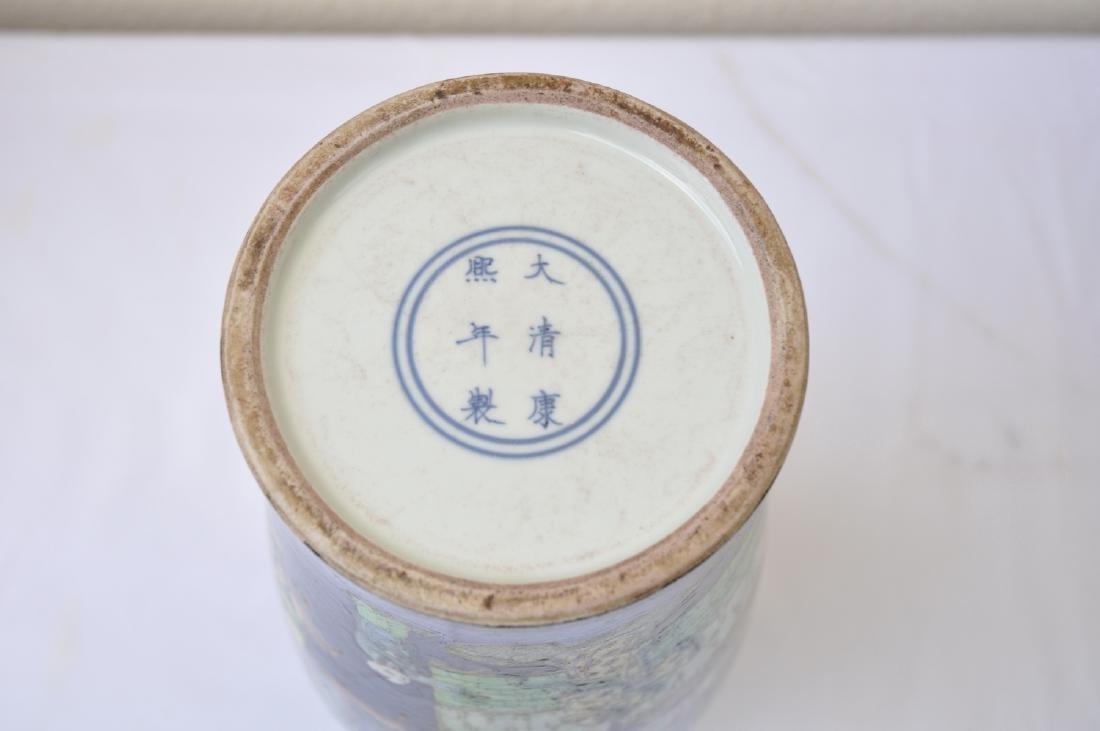 Vietnamese Qing Dynasty Famille Noire Verte Vase - 10