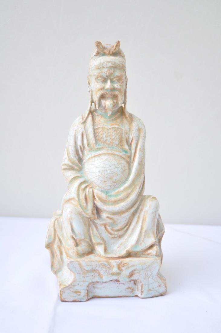 Vietnamese 17th-18th C. Ceramic Thai Bach Statue