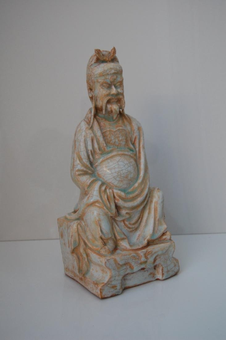 Vietnamese 17th-18th C. Ceramic Thai Bach Statue - 2