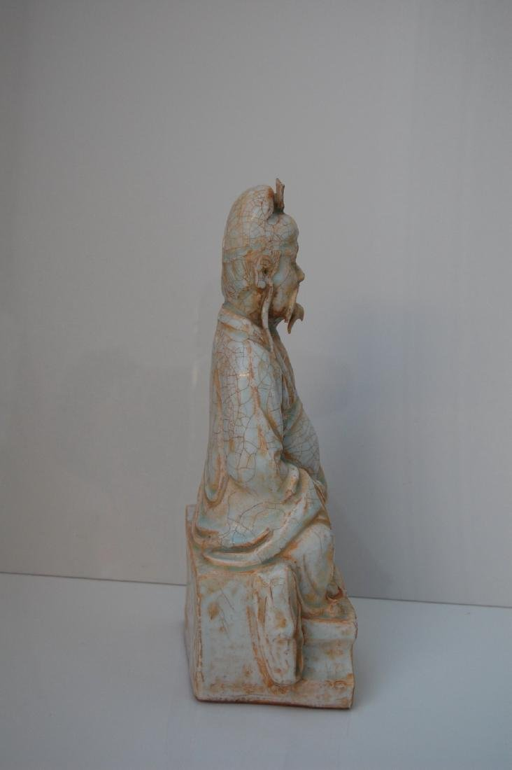 Vietnamese 17th-18th C. Ceramic Thai Bach Statue - 3