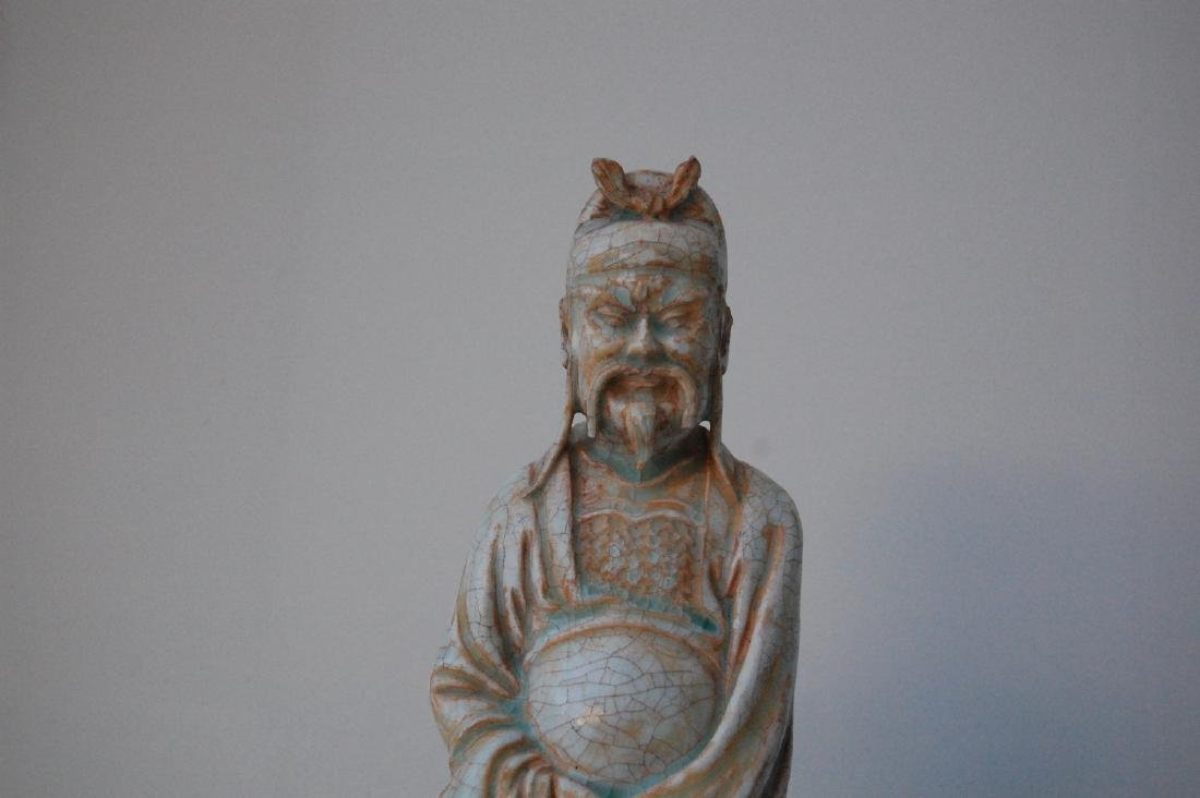 Vietnamese 17th-18th C. Ceramic Thai Bach Statue - 6