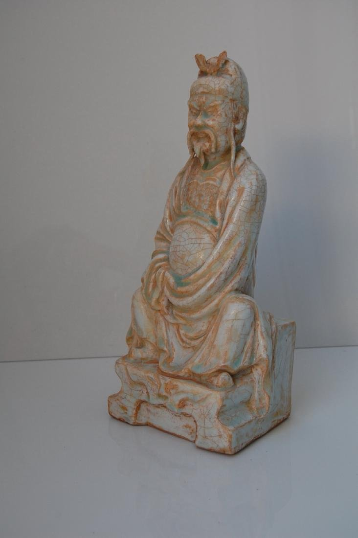 Vietnamese 17th-18th C. Ceramic Thai Bach Statue - 7