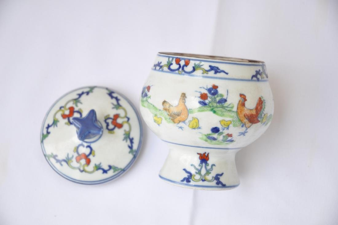 Vietnamese Qing Dynasty Period Wucai Chicken Bowl - 2