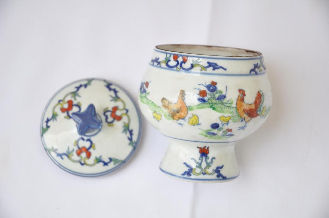 Vietnamese Qing Dynasty Period Wucai Chicken Bowl - 3