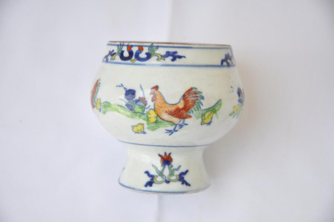 Vietnamese Qing Dynasty Period Wucai Chicken Bowl - 4