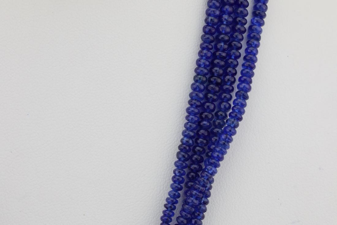 325ctw Blue Sapphire & Diamond Platinum Necklace - 5