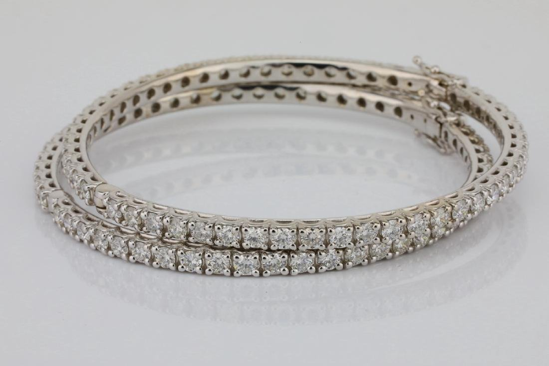 14ctw VS2-SI1/G-H Diamond 18K Set of (2) Bangles