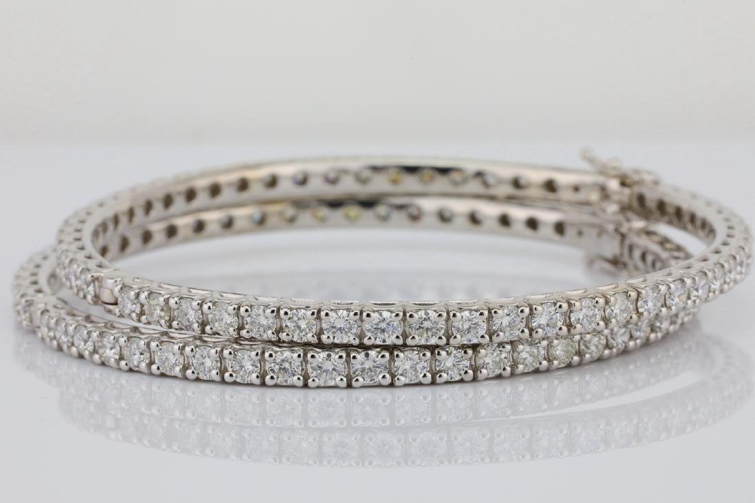 14ctw VS2-SI1/G-H Diamond 18K Set of (2) Bangles - 2
