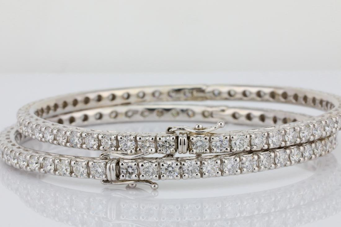 14ctw VS2-SI1/G-H Diamond 18K Set of (2) Bangles - 4