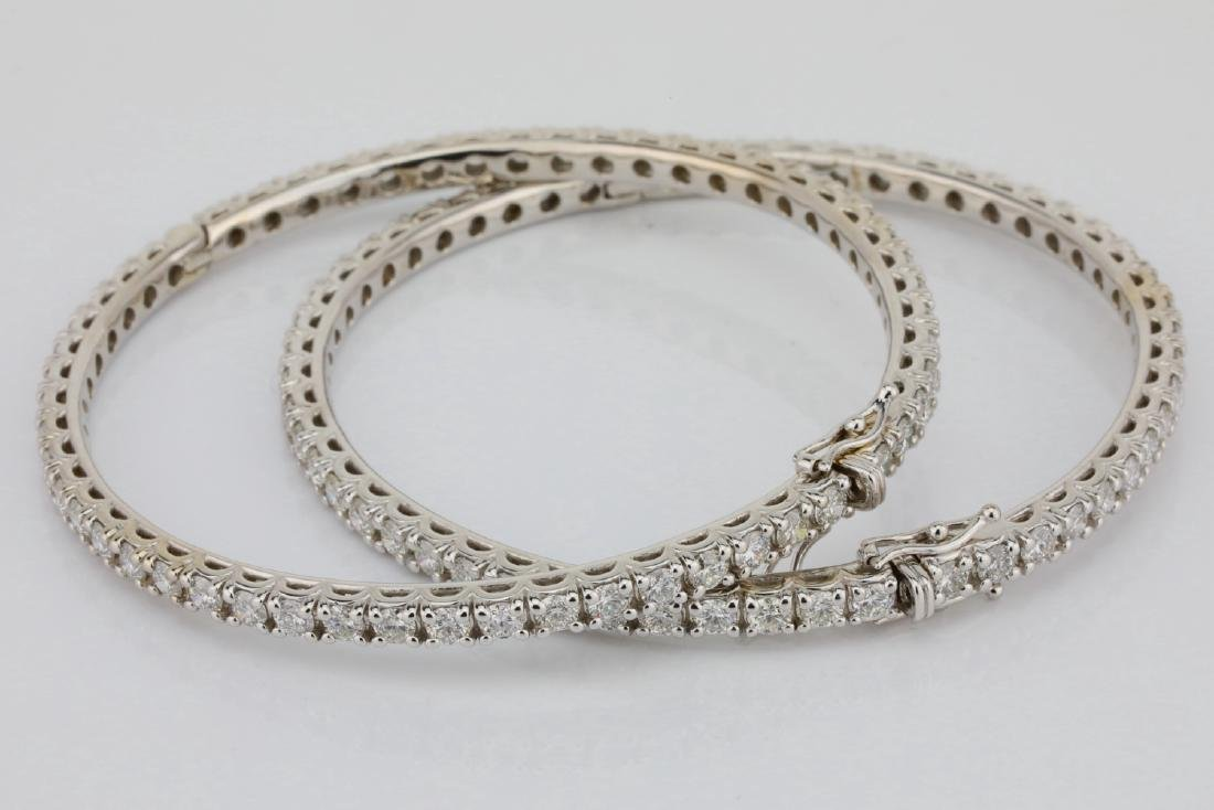 14ctw VS2-SI1/G-H Diamond 18K Set of (2) Bangles - 5