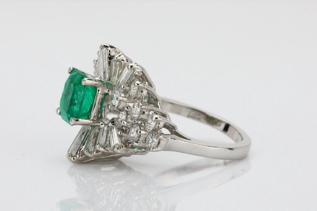 1.5ct Emerald, 1.75ctw Diamond 14K Cocktail Ring - 6