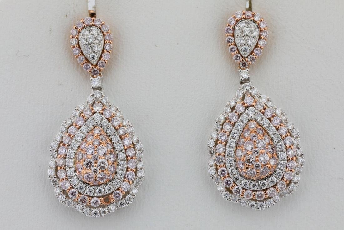 1.85ctw Argyle Pink & White Diamond 14K Earrings