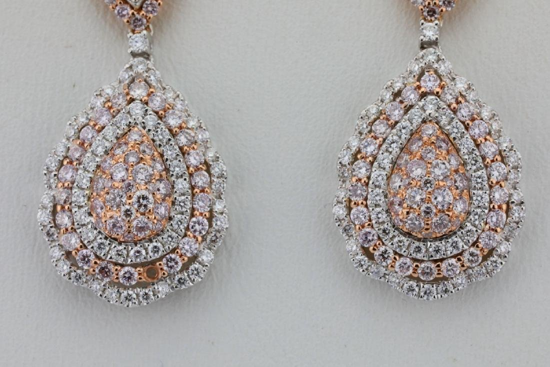 1.85ctw Argyle Pink & White Diamond 14K Earrings - 2