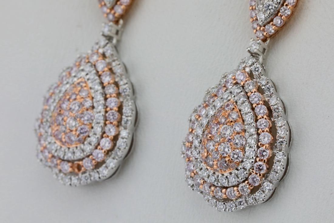 1.85ctw Argyle Pink & White Diamond 14K Earrings - 3