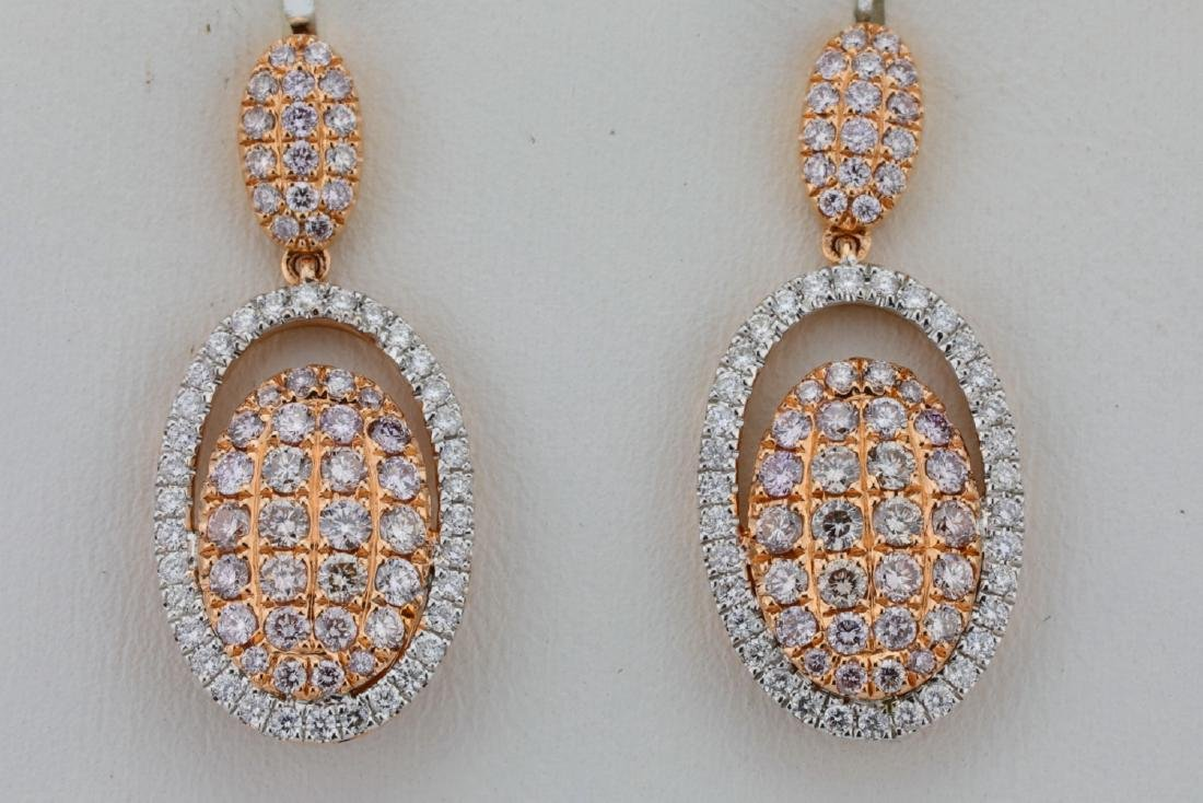 1.80ctw Argyle Pink & White Diamond 14K Earrings