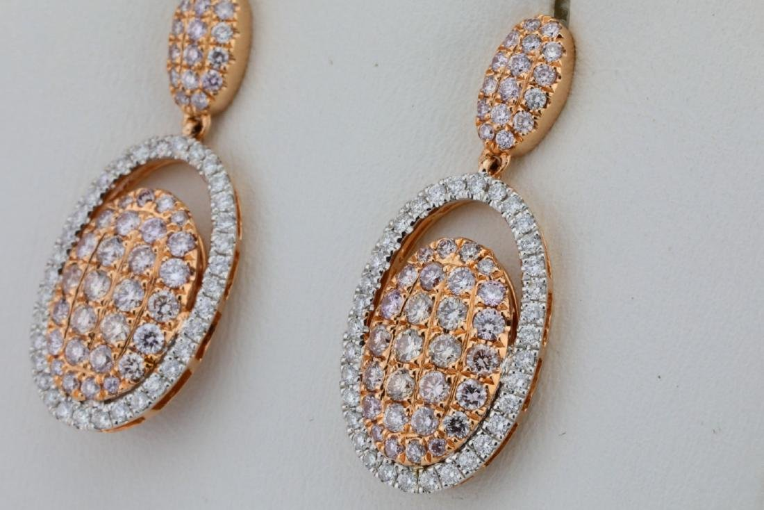 1.80ctw Argyle Pink & White Diamond 14K Earrings - 2