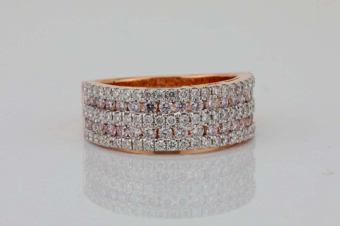 1.30ctw Argyle Pink & White Diamond 14K Band