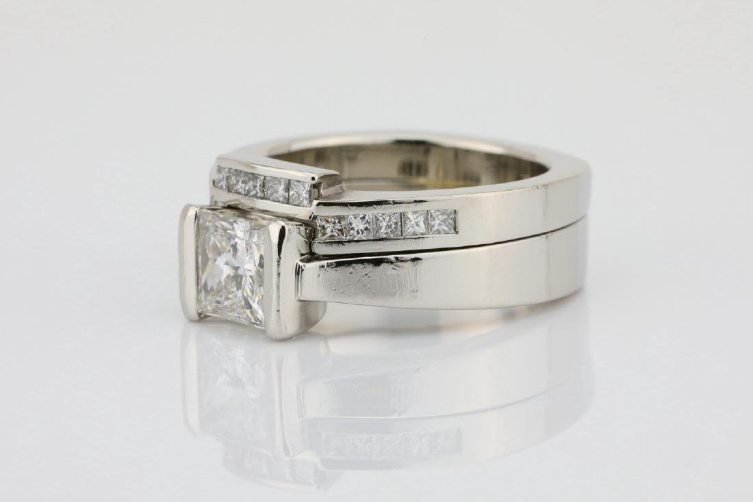 1.50ctw VS1-VS2/G-H Diamond & Solid Platinum Ring - 2