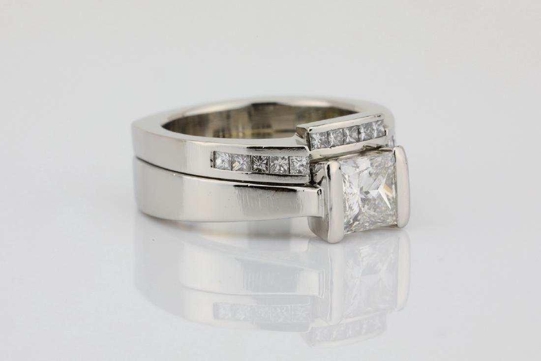 1.50ctw VS1-VS2/G-H Diamond & Solid Platinum Ring - 3
