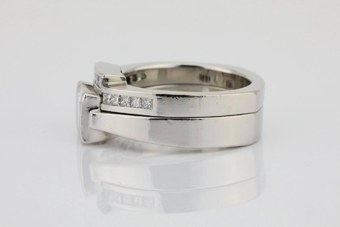 1.50ctw VS1-VS2/G-H Diamond & Solid Platinum Ring - 4