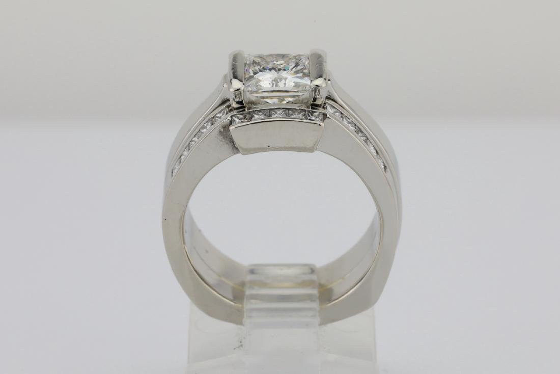 1.50ctw VS1-VS2/G-H Diamond & Solid Platinum Ring - 7
