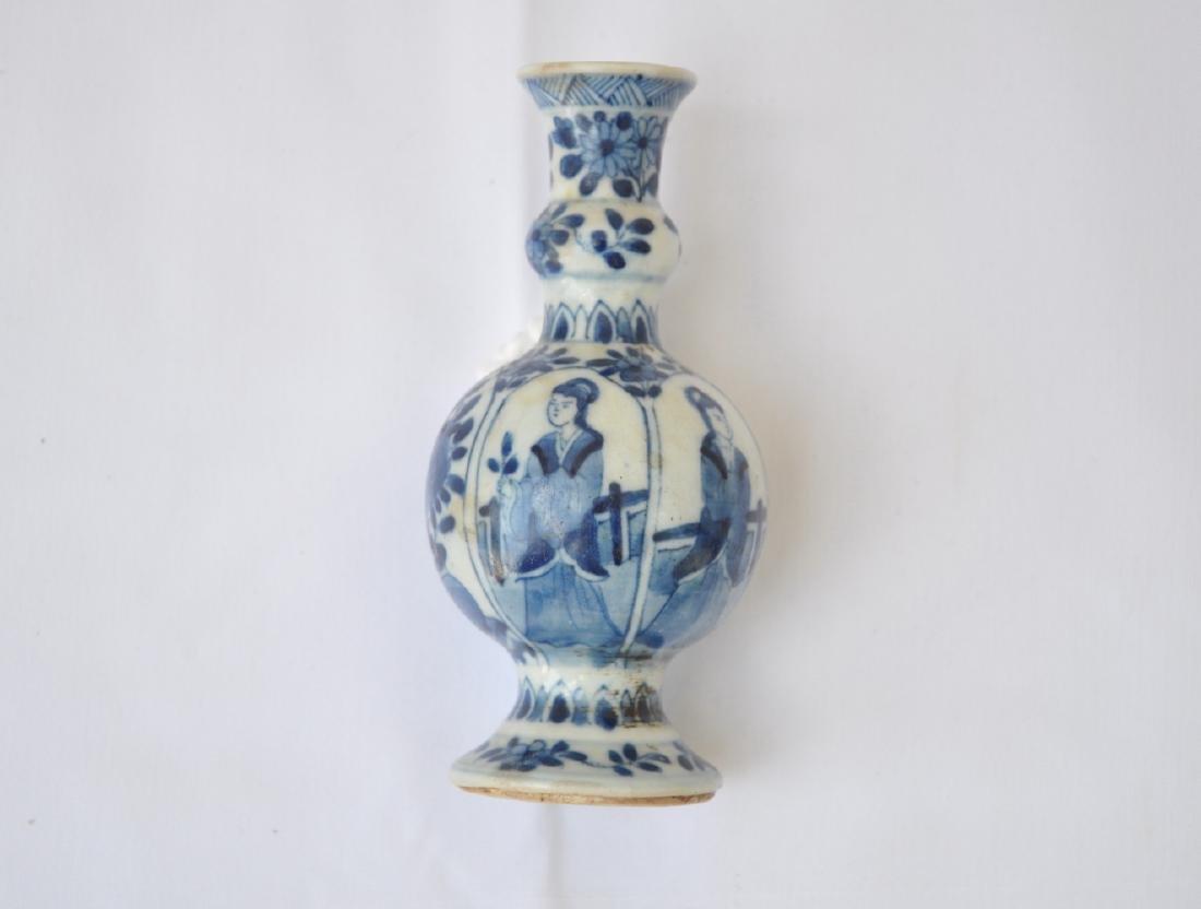 Vietnamese Qing Dynasty Blue Underglazed Vase