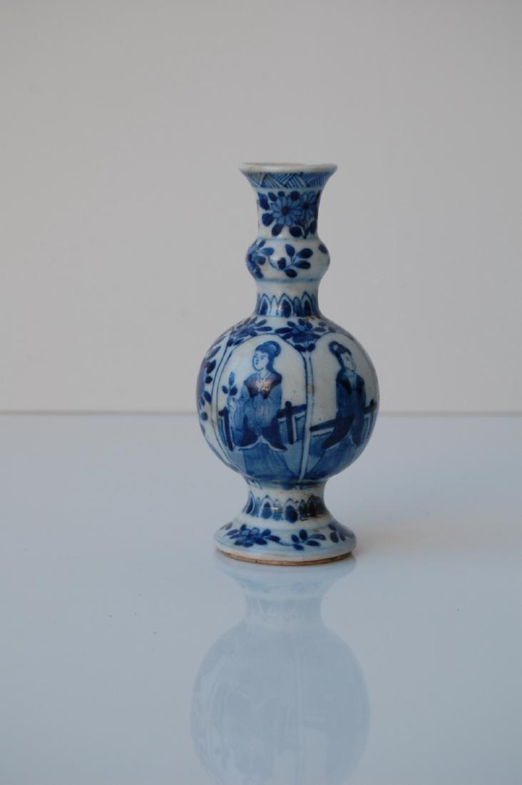 Vietnamese Qing Dynasty Blue Underglazed Vase - 4