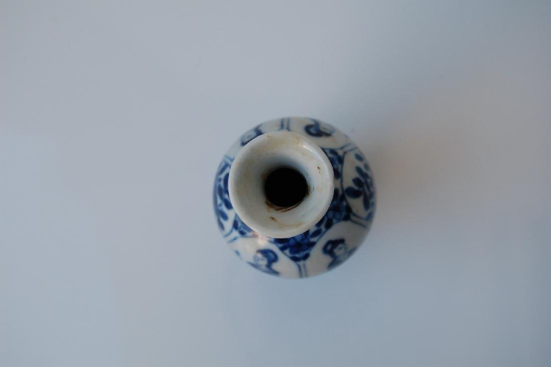 Vietnamese Qing Dynasty Blue Underglazed Vase - 5