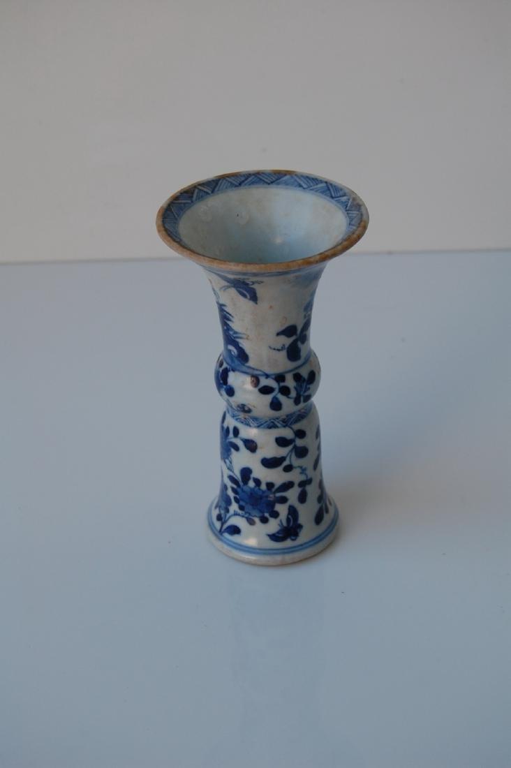 Vietnamese Qing Dynasty Period Gu Form Vase