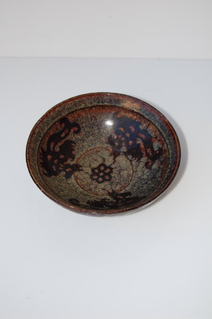 Vietnamese 17th C. Black Glazed Ceramic Bowl - 3