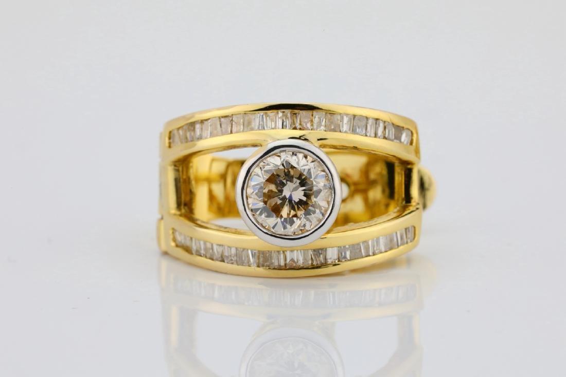 2ctw SI1-SI2/G-H Diamond & 14K Semi-Hoop Earrings - 4