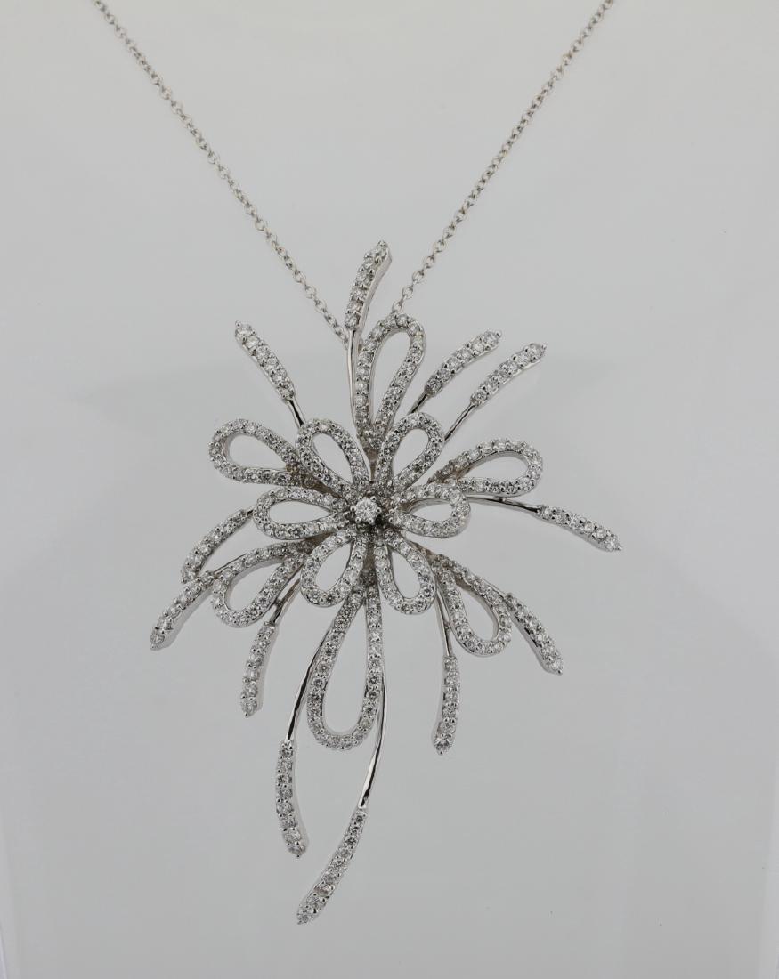 "5.00ctw VS2-SI1/G-H Diamond & 18K 18"" Necklace"