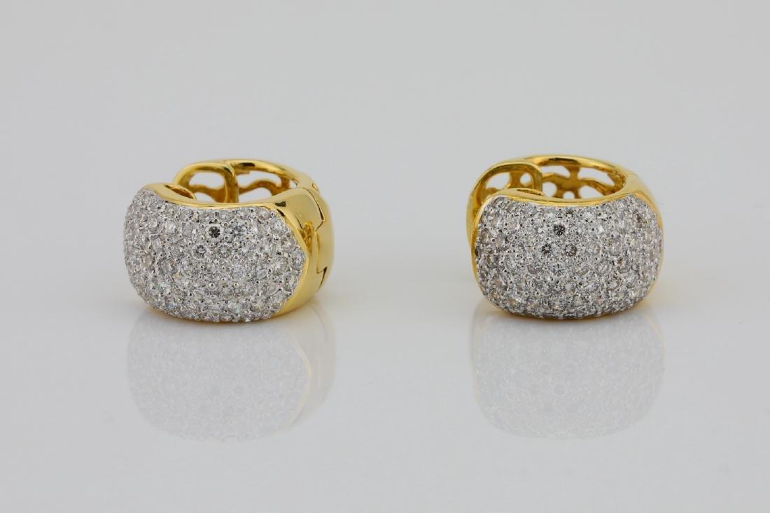 2.50ctw VS1-VS2/G-H Diamond & 18K Hoop Earrings